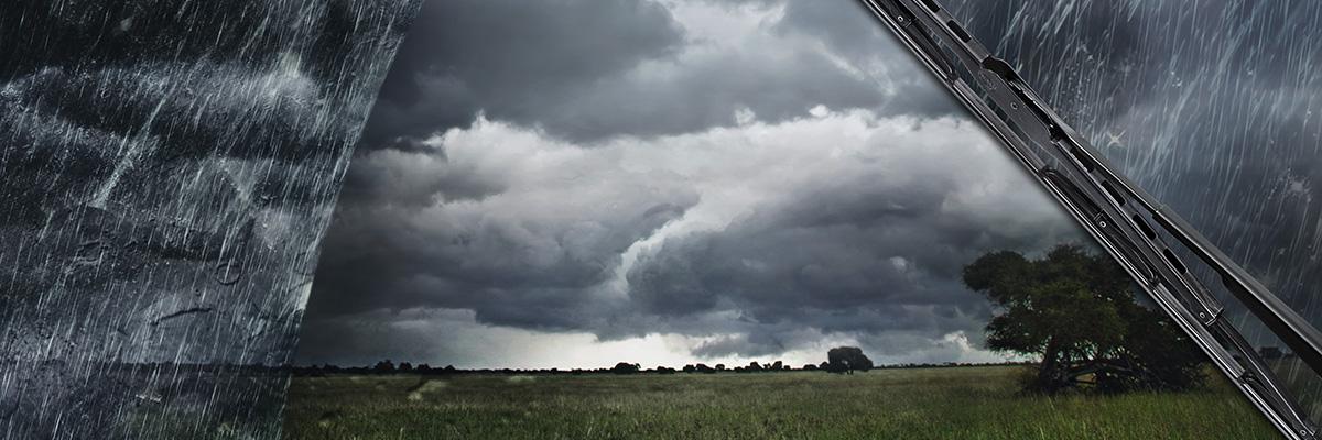 Unwetter auf dem Feld
